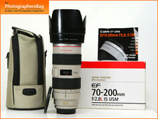 Canon EF 70-200mm F2.8L IS USM AF Zoom Objektiv für EOS SLR + Free UK Porto