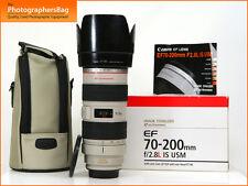 Canon EF 70-200mm F2.8L IS USM AF Zoom Lens for EOS SLRs + Free UK Postage