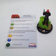 Heroclix Captain America set Red Skull #052 Super Rare figure w/card!