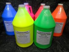 Fluorescent Black Light Paint 1 Gallon Ea Color (ALL 6 COLORS)