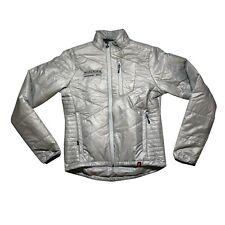 New Men's Hincapie Fahrenheit Puffy Casual Jacket, Silver, Size Small