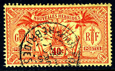 NEW HEBRIDES 1925 French 40c. Red on Yellow Paper Issue SG F47 VFU