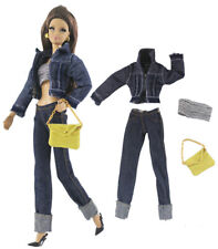 4in1 Set Fashion Outfit Coat+vest+pants+bag for 11.5 in. Doll d07