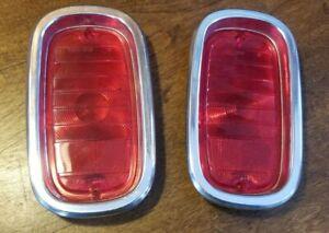 1960-66 Chevrolet Truck Tail Lamp Lens/Bezel Set/Pair Glo-Brite