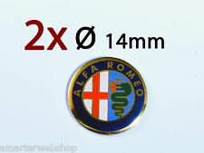 Alfa Romeo Schlüssel Key Fob ALU Emblem Logo Aufkleber  Sticker ersatz Ø 14 mm