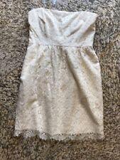 New Shoshana Beige Lace Strapless Dress Sz 2
