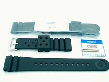 SEIKO GENUINE 22mm - FLAT DIVER STRAP 4F24ZZ / INCLUDES FAT C220FS SPRING BARS