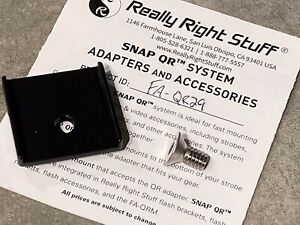 Really right stuff FA-QR29, Quick Release Adapter For Nikon SC-29 Flash Cord