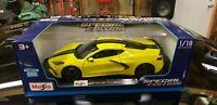 2020 Chevrolet Corvette Stingray C8 Special Edition ExclusiveMaisto 1:18 Yellow