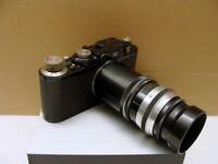 "Leitz Wetzlar - Leica I black+ H.Kilfitt 3.5/90mm ""Werksumbau Typ II"" - RAR!"