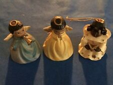 African American Angel Bell Figurines & 1 Singing Angel by Giftco   (: