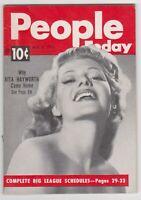 People Today Magazine May 9, 1951 Rita Hayworth Met Opera Folies Bergere