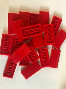20 pieces RED 2x4 87079 Lego compatible Flat Tiles Smooth top Lid roof Plate NEW