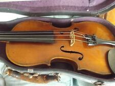 old german half size violin no reserve with bow and case real purfling