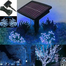 72ft Outdoor Indoor 200 LED Cool White Solar String Christmas Fairy Lights