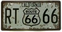 California RT Route 66 United States,Retro Vintage Auto License Plate Tin Sign