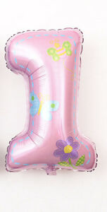 16 40 inch One First Birthday 1 Month Baby Shower Letter Floated Balloon Cartoon
