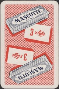 Playing Cards Single Card Old Vintage MASCOTTE CIGARETTE ROLLING PAPERS Smoking