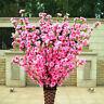 Artificial Cherry Spring Plum Peach Blossom Branch Silk Fake Flower Tree Decor
