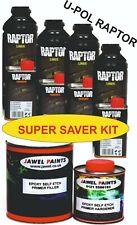 U-POL Raptor Ral8002 Brown Liner Tough Durable Waterproofing Coating 4 LT Kit