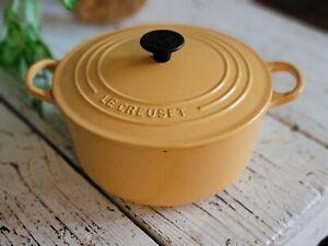 Le Creuset #22 Dutch Oven Yellow