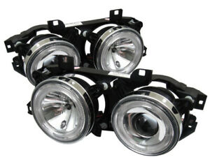 Spyder for BMW E34 5-Series 89-94 Projector Headlights NO FIT 750 LED Halo Chrm
