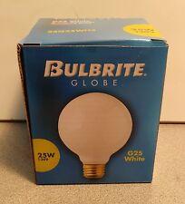 Bulbrite 25G25WH3 25 Watt Incandescent G25 Globe, Medium Base, White