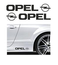 2x Opel Auto Aufkleber schwarz / hochwertige Oracal Folie!