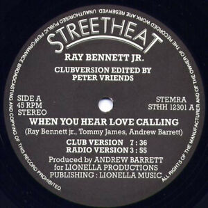 Ray Bennett Jr. – When You Hear Love Calling 12' reedition - reissue