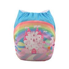 Alva Rainbow Reusable Washable Cloth Baby Girl Diaper Pocket Nappy+1Insert