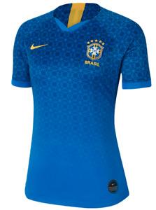 Nike Brasil Brasilien Brazil Damen Fußball Trikot Heim Blau Gelb alle Größen