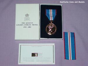 2002 OFFICIAL QUEEN ELIZABETH II GOLDEN JUBILEE MEDAL - BOXED