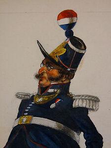 Portrait d'un Officier de la Garde Nationale en 1862 France Police Gendarmerie
