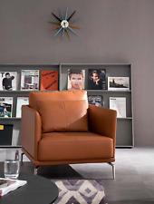 Fauteuil Design Cuir Rembourrage Salon Chaise Siège Luxe Chambre Attente Neuf