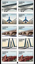 ZWEDEN 2016 bruggen  postzegelboekje   postfris/mnh
