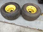 2 Carlisle Turf Trac R/S 20x10.00-8 Tires John Deere 3225C 3235C 7500 Rims Wheel