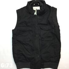 "Womens Timberland Gilet Jacket Vest Black Zip and Buttons Size 12 P-P 18"" L 22"""