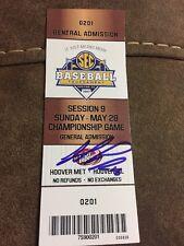 Jared Poche' Signed Auto Used SEC Championship Game Ticket LSU Vs Arkansas