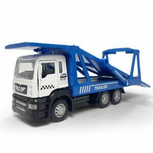1:50 Trailer Transport Flatbed Truck Model Car Diecast Kid Toy Vehicle Gift Blue