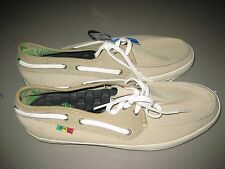New with Tags Mens Vans Chauffeur Rasta Khaki Surf Siders - Size 9