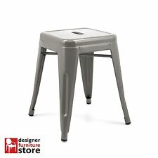 Replica Xavier Pauchard Tolix Stackable Metal Stool (45cm) - Grey