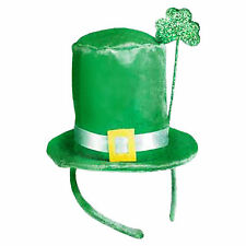 Green St. Patrick's Day Ireland Irish Party Mini Top Hat Headband