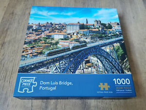 Dom Luis Bridge, Portugal 1000 Piece Jigsaw Puzzle - Corner Piece - Complete