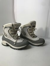 Columbia Women's Bugaboot Omni-tech Snow Boots White Gray Size 8.5US See Pics