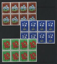 Y.A.R. 1964 FLOWERS *VF SELECTION OF BLOCKS OF EIGHT x 3*