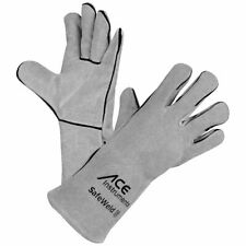 ACE SafeWeld Schweißer-Handschuhe Lange Leder-Handschuhe Hitze-Schutzhandschuhe
