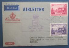 Norfolk island 1953 Coronation Flight Cover backstamped with Long Live slogan
