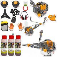 Rasentrimmer Motorsense Benzin 52ccm Freischneider 6 PS Trimmer Set 3x100ml oil