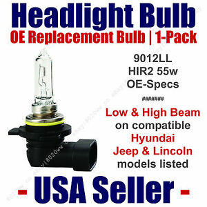 Headlight Bulb Hi/Low Beam OE Replacement Fits Listed Hyundai/Jeep/Lincoln 9012