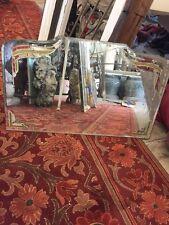 Rare Art Deco Bathroom Mirror 1920's Etched Vanity Mirror
